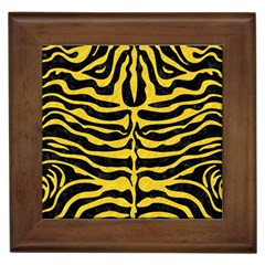 Skin2 Black Marble & Yellow Colored Pencil (r) Framed Tiles by trendistuff