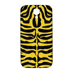 Skin2 Black Marble & Yellow Colored Pencil (r) Samsung Galaxy S4 I9500/i9505  Hardshell Back Case by trendistuff