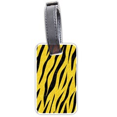 Skin3 Black Marble & Yellow Colored Pencil Luggage Tags (two Sides) by trendistuff