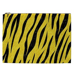 Skin3 Black Marble & Yellow Colored Pencil Cosmetic Bag (xxl)  by trendistuff