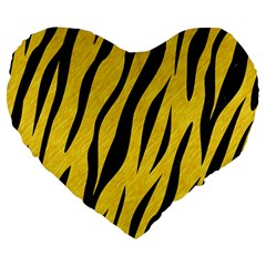 Skin3 Black Marble & Yellow Colored Pencil Large 19  Premium Heart Shape Cushions by trendistuff