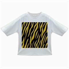 Skin3 Black Marble & Yellow Colored Pencil (r) Infant/toddler T Shirts