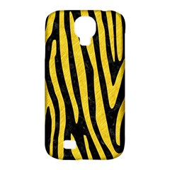 Skin4 Black Marble & Yellow Colored Pencil Samsung Galaxy S4 Classic Hardshell Case (pc+silicone) by trendistuff