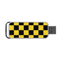 Square1 Black Marble & Yellow Colored Pencil Portable Usb Flash (one Side) by trendistuff