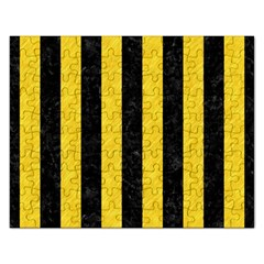 Stripes1 Black Marble & Yellow Colored Pencil Rectangular Jigsaw Puzzl by trendistuff