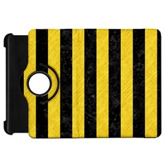 Stripes1 Black Marble & Yellow Colored Pencil Kindle Fire Hd 7  by trendistuff