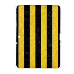 Stripes1 Black Marble & Yellow Colored Pencil Samsung Galaxy Tab 2 (10 1 ) P5100 Hardshell Case  by trendistuff
