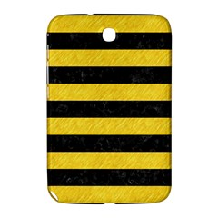 Stripes2 Black Marble & Yellow Colored Pencil Samsung Galaxy Note 8 0 N5100 Hardshell Case  by trendistuff