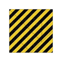 Stripes3 Black Marble & Yellow Colored Pencil (r) Acrylic Tangram Puzzle (4  X 4 ) by trendistuff