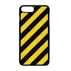 Stripes3 Black Marble & Yellow Colored Pencil (r) Apple Iphone 8 Plus Seamless Case (black)