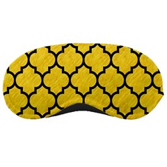 Tile1 Black Marble & Yellow Colored Pencil Sleeping Masks by trendistuff