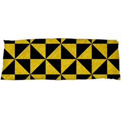 Triangle1 Black Marble & Yellow Colored Pencil Body Pillow Case Dakimakura (two Sides)