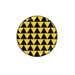 Triangle2 Black Marble & Yellow Colored Pencil Hat Clip Ball Marker by trendistuff