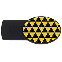 Triangle3 Black Marble & Yellow Colored Pencil Usb Flash Drive Oval (2 Gb) by trendistuff