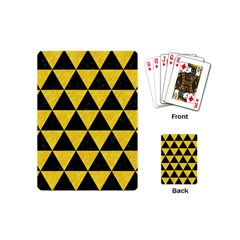 Triangle3 Black Marble & Yellow Colored Pencil Playing Cards (mini)  by trendistuff