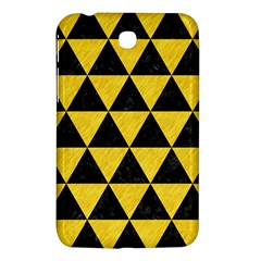 Triangle3 Black Marble & Yellow Colored Pencil Samsung Galaxy Tab 3 (7 ) P3200 Hardshell Case  by trendistuff