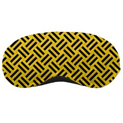Woven2 Black Marble & Yellow Colored Pencil Sleeping Masks by trendistuff