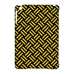 Woven2 Black Marble & Yellow Colored Pencil (r) Apple Ipad Mini Hardshell Case (compatible With Smart Cover) by trendistuff