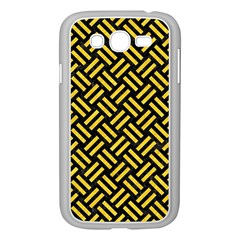 Woven2 Black Marble & Yellow Colored Pencil (r) Samsung Galaxy Grand Duos I9082 Case (white)