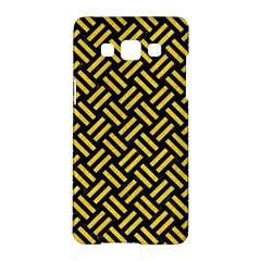 Woven2 Black Marble & Yellow Colored Pencil (r) Samsung Galaxy A5 Hardshell Case  by trendistuff