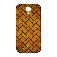 Brick2 Black Marble & Yellow Grunge Samsung Galaxy S4 I9500/i9505  Hardshell Back Case by trendistuff