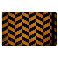 Chevron1 Black Marble & Yellow Grunge Apple Ipad Pro 12 9   Flip Case by trendistuff