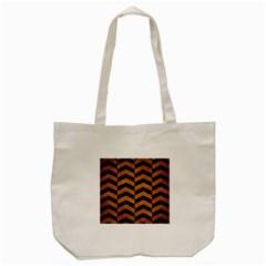 Chevron2 Black Marble & Yellow Grunge Tote Bag (cream) by trendistuff