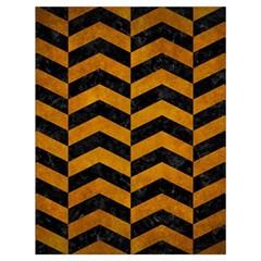 Chevron2 Black Marble & Yellow Grunge Drawstring Bag (large) by trendistuff