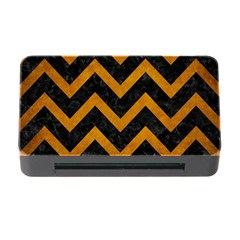 Chevron9 Black Marble & Yellow Grunge (r) Memory Card Reader With Cf by trendistuff