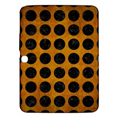 Circles1 Black Marble & Yellow Grunge Samsung Galaxy Tab 3 (10 1 ) P5200 Hardshell Case  by trendistuff