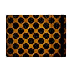 Circles2 Black Marble & Yellow Grunge Apple Ipad Mini Flip Case by trendistuff
