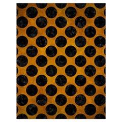 Circles2 Black Marble & Yellow Grunge Drawstring Bag (large) by trendistuff