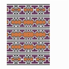 Purple And Brown Shapes                                  Small Garden Flag by LalyLauraFLM
