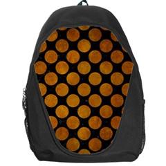 Circles2 Black Marble & Yellow Grunge (r) Backpack Bag by trendistuff