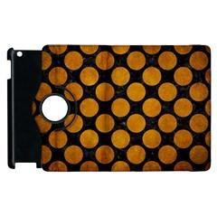 Circles2 Black Marble & Yellow Grunge (r) Apple Ipad 2 Flip 360 Case by trendistuff