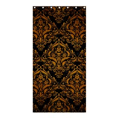 Damask1 Black Marble & Yellow Grunge (r) Shower Curtain 36  X 72  (stall)  by trendistuff