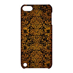 Damask2 Black Marble & Yellow Grunge (r) Apple Ipod Touch 5 Hardshell Case With Stand by trendistuff