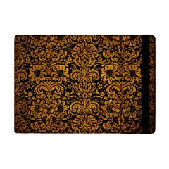 Damask2 Black Marble & Yellow Grunge (r) Ipad Mini 2 Flip Cases by trendistuff