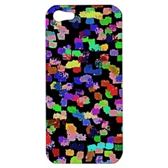 Colorful Paint Strokes On A Black Background                          Apple Iphone 5 Hardshell Case by LalyLauraFLM