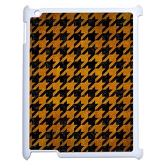 Houndstooth1 Black Marble & Yellow Grunge Apple Ipad 2 Case (white) by trendistuff