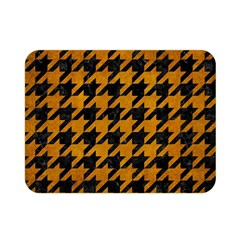 Houndstooth1 Black Marble & Yellow Grunge Double Sided Flano Blanket (mini)  by trendistuff