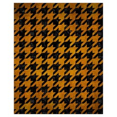 Houndstooth1 Black Marble & Yellow Grunge Drawstring Bag (small) by trendistuff