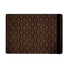 Hexagon1 Black Marble & Yellow Grunge (r) Apple Ipad Mini Flip Case by trendistuff