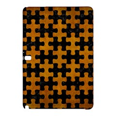 Puzzle1 Black Marble & Yellow Grunge Samsung Galaxy Tab Pro 12 2 Hardshell Case by trendistuff