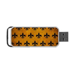 Royal1 Black Marble & Yellow Grunge (r) Portable Usb Flash (two Sides) by trendistuff