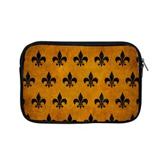 Royal1 Black Marble & Yellow Grunge (r) Apple Ipad Mini Zipper Cases by trendistuff