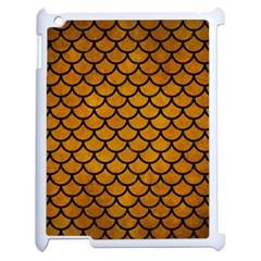 Scales1 Black Marble & Yellow Grunge Apple Ipad 2 Case (white)