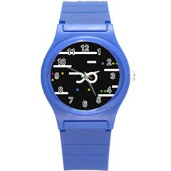 Line Circle Triangle Polka Sign Round Plastic Sport Watch (s) by Mariart