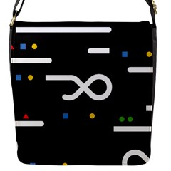 Line Circle Triangle Polka Sign Flap Messenger Bag (s) by Mariart