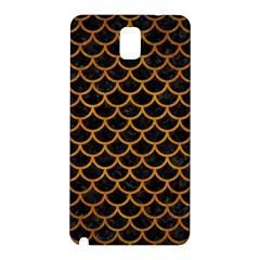 Scales1 Black Marble & Yellow Grunge (r) Samsung Galaxy Note 3 N9005 Hardshell Back Case by trendistuff